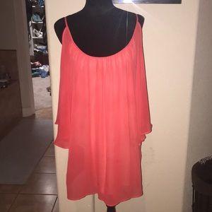 Bebe coral dress/top